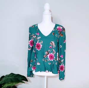 Love, Fire Floral Flowy Top